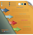 Modern arrows for infographics template vector