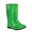 Rubber boots on white background vector