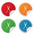 Scissors hairdresser sign icon tailor symbol vector