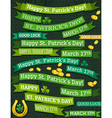 Set of ribbon for st patricks day vector