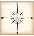 Pirate compass vector