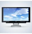 3d computer monitor vector