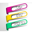 Paper tags for items in sale sold out and new vector