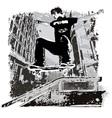 Grunge street skater vector