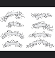 Ribbons - hand drawn vector