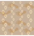 Seamless pattern ways dog paw prints and legs of a vector