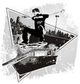 Slide skater vector