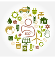 Eco green icons vector
