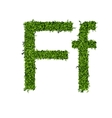 Isolated grass alphabet on white background vector