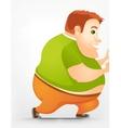 Cheerful chubby man vector