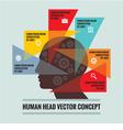 Human head - infographic concept vector