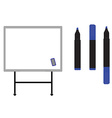 Whiteboard with markers vector