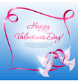 Background on valentines day vector