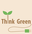 Think green eco concept vector