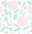 Floral summer background with birds vector