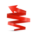 Abstract 3d red arrow icon vector