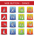 Dance web button vector