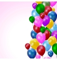 Multicolored balloons vector
