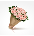 Bouquet of pink roses isolated vector