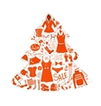 Christmas clothes set vector