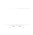 White led television - design vector