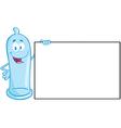Condom cartoon mascot character vector