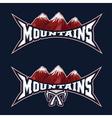 Mountains sport team emblem design template vector