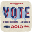 Presidential election 2012 poster vector