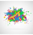 Abstract background with paint splashes vector