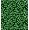 Seamless pattern with shamrock vector