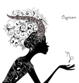 Zodiac sign capricorn fashion girl vector