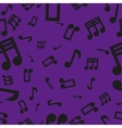 Musical notes seamless pattern violet vector