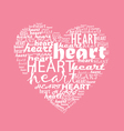 Love typography with heart shape vector