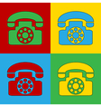 Pop art phone icons vector