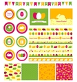 Set of design elements for easter vector