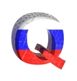 Russian cutted figure q paste to any background vector