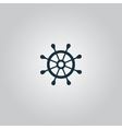 Rudder web flat icon vector