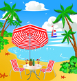 Beach vacation background vector