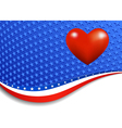 Stars and stripes landscape with heart vector