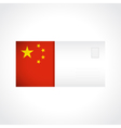 Envelope with chinese flag card vector