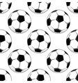 Seamless pattern of soccer balls vector
