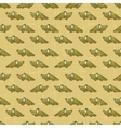 Vintage cartoon crocodiles pattern vector