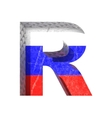 Russian cutted figure r paste to any background vector