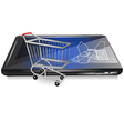 Retail on line vector