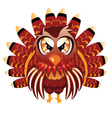 Cute turkey bird vector