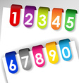 Colorful numbered paper tags vector