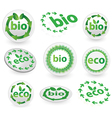 Green eco and bio icons vector