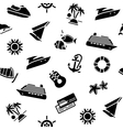 Wrapping paper - transport icons 10eps vector