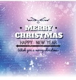 Merry christmas card on grunge paper vector