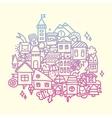 Doodle city vector
